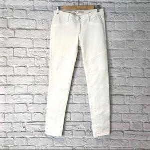 DL1961 Harlow Moto White Jeans 28 💖